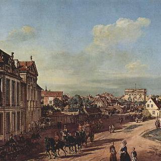 바르샤바 풍경 - 루보모르스키 성과 철의 문 광장, 서쪽에서 바라본 모습