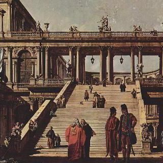카프리초 (인상적인 건축적 모티프들을 따 상상으로 그린 베두타) - 왕궁계단