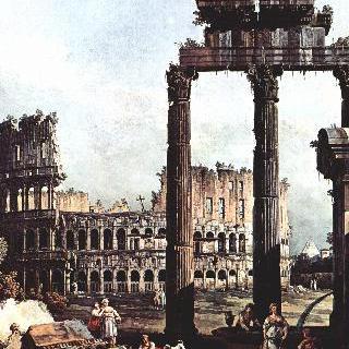 로마의 모습을 그린 카프리초 - 콜로세움 및 카스토르와 폴룩스 사원의 폐허