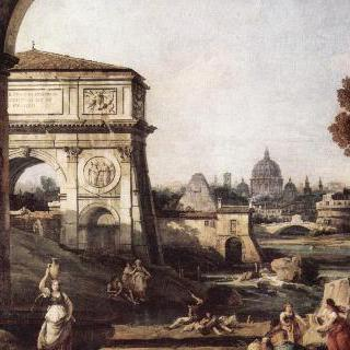 로마의 모습을 그린 카프리초 - 티투스 개선문