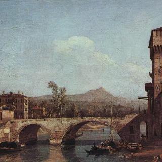 베네치아의 모습을 그린 카프리초 - 강, 다리와 중세의 도시 성문