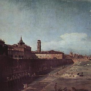 토리노, 서쪽에서 왕궁을 바라본 모습