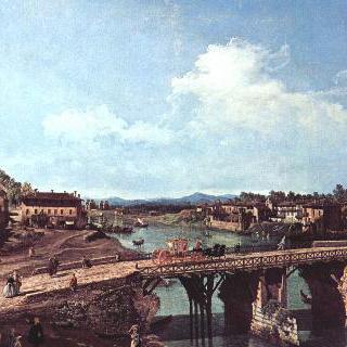 토리노, 포 강 위로 놓인 고대 다리를 북동쪽에서 바라본 모습