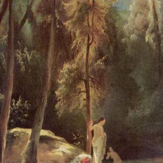테르니의 공원에서 목욕하는 여인들 (숲 속에서 목욕하는 여인들)