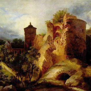 폭파된 하이델베르크 성의 탑