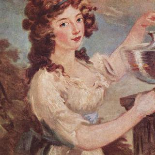 금붕어와 함께 있는 젊은 여인의 초상