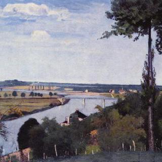 부아 르 루아 부근의 센 강 풍경