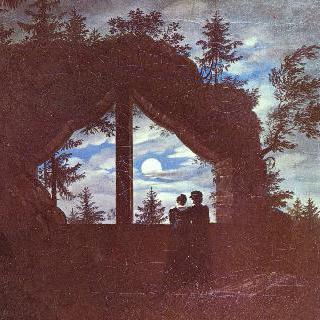 달빛 비치는 오이빈 산의 창문