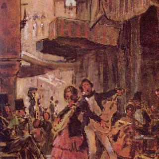 이탈리아의 거리의 가수들