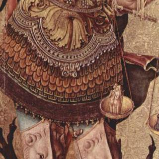 성 베드로 순교자의 폴립티크 (여러 폭 제단화), 왼쪽 바깥 날개 : 대천사 미가엘