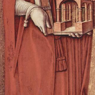 성 베드로 순교자의 폴립티크 (여러 폭 제단화), 왼쪽 안쪽 날개 : 성 히에로니무스