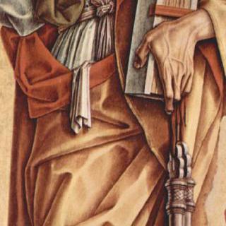 몬테피오레 델라소의 산 프란체스코 교회의 여러 폭 제단화, 왼쪽 안쪽 패널 : 성 베드로