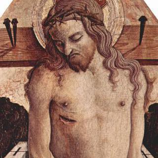 마사 페르마나의 산 실베스트로 교회 제단화, 중앙 상단 패널 : 수난의 그리스도