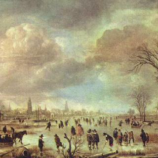 겨울 강 풍경