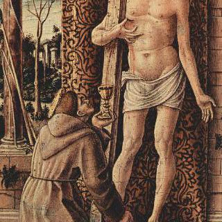 그리스도의 성흔에서 피를 받아 모으고 있는 아시시의 성 프란체스코