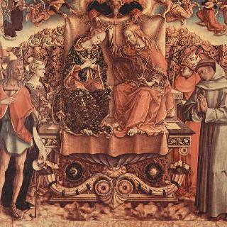 성모마리아의 대관식 : 성삼위