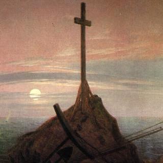 발트 해 바닷가의 십자가
