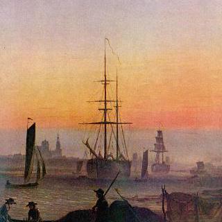 그라이프스발트 항구의 배들