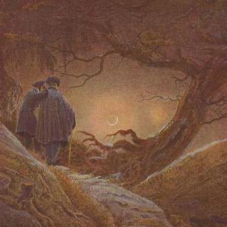 달을 응시하는 두 남자