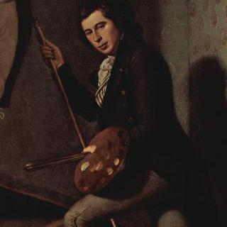 계단 위의 라파엘 필과 티티안 필의 초상