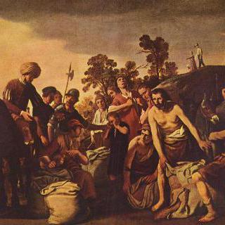 벤야민의 자루에서 은잔을 발견하는 요셉의 청지기