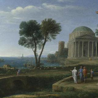 아이네이아스가 있는 델로스 섬 풍경