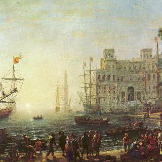 빌라 메디치가 있는 항구