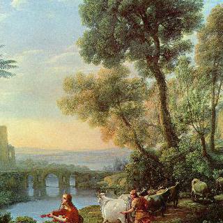 아폴로와 메르쿠리우스가 있는 풍경