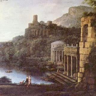 님프 에게리아와 누마 왕이 있는 풍경