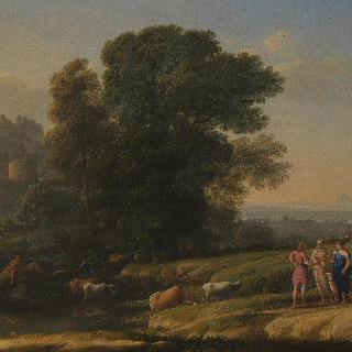 디아나의 힘으로 재회한 케팔로스와 프로크리스가 있는 풍경