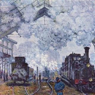 파리의 생 라자르 역, 기차의 도착