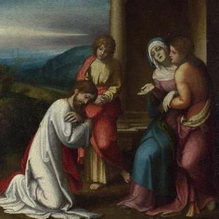 어머니에게 작별을 고하는 그리스도