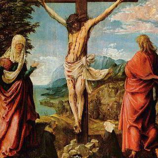 십자가형 : 십자가에 못 박힌 그리스도와 마리아와 요한
