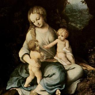 세례 요한과 함께 있는 성모
