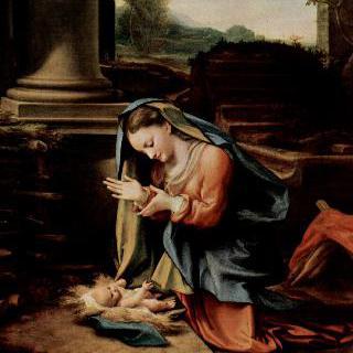 아기 예수를 경배하는 마리아