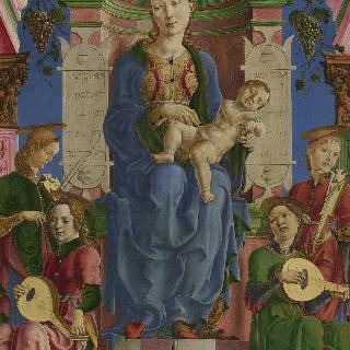 왕좌에 앉아 있는 성모와 아기 예수