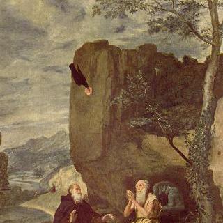 수도원장 성 안토니우스와 은자 성 파울로스