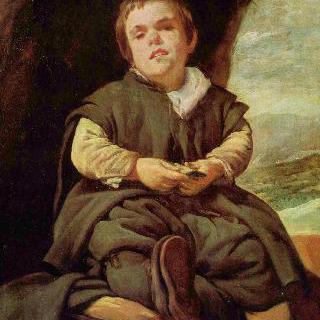 궁정 난쟁이 프란시스코 레스카노 (니뇨 데 발레카스)의 초상