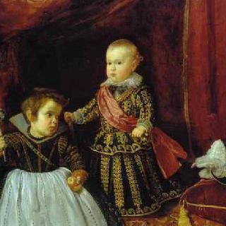 난쟁이와 함께 있는 발타사르 카를로스 왕자의 초상