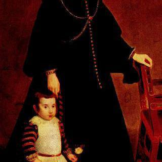 아들과 함께 있는 도냐 안토니아 데 이페냐리에타의 초상
