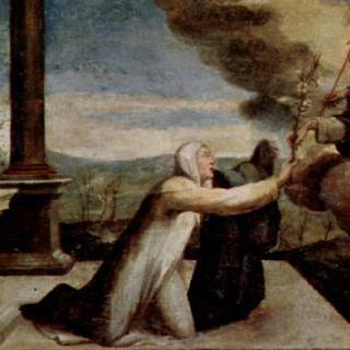 성흔을 받는 성카타리나, 그리고 성베네딕토와 성히에로니무스