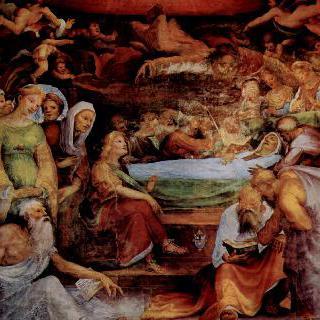 시에나에 있는 성 베네딕토 예배실의 프레스코화 : 마리아의 죽음