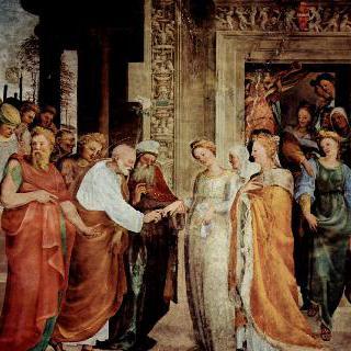 시에나에 있는 성 베네딕토 예배실의 프레스코화 : 마리아와 요셉의 결혼