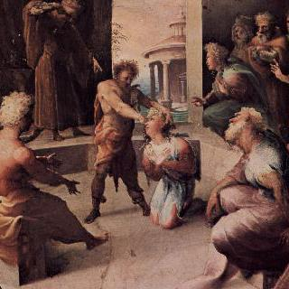 팔라초 빈디 세르가르디에 있던 프레스코화 연작 : 로크리스의 셀레우코스의 희생