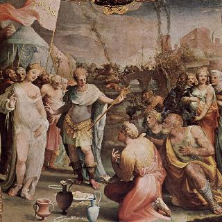 팔라초 빈디 세르가르디에 있던 프레스코화 연작 : 스키피오의 절제