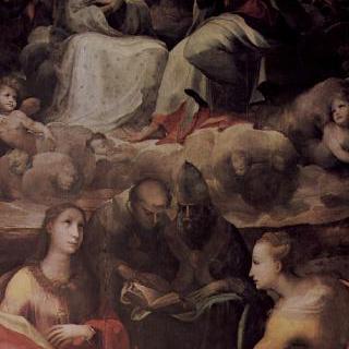 성인들이 함께 있는 마리아의 대관식