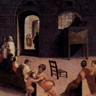 시에나의 광장에서 설교하는 성 베르나르디노