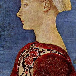 젊은 여인의 옆얼굴 초상