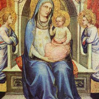 왕좌에 앉아 있는 성모