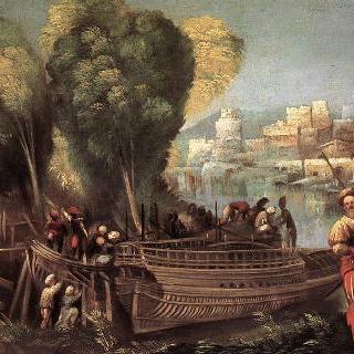 아르고호 원정대의 출발 (리비아 해안의 아이네아스와 아카테스)